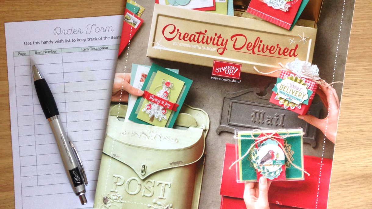 The Stampin' Up! Autumn/Winter Catalogue 2017 is out now!