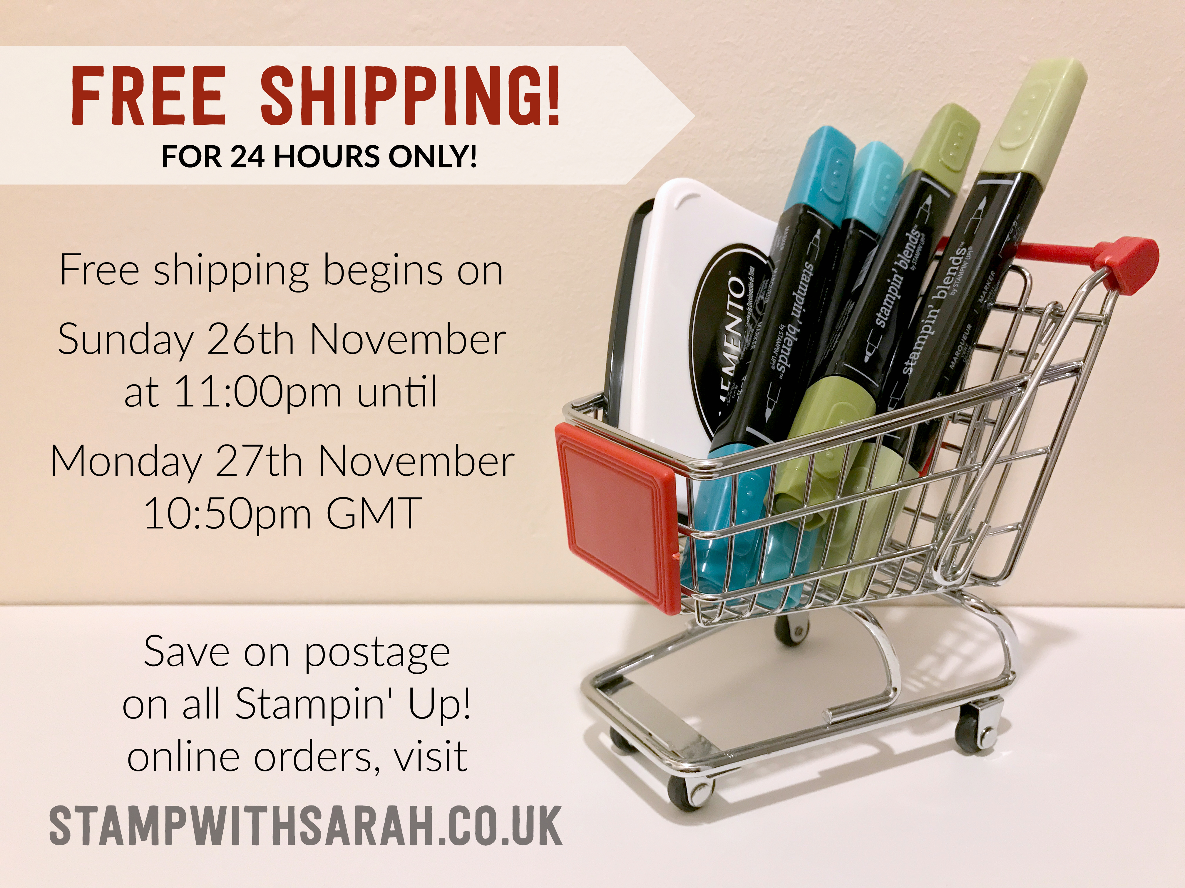 FREE SHIPPING FOR 24 HOURS ONLY!
