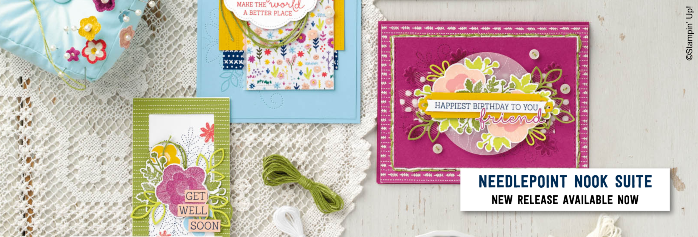 Needlepoint Nook Suite from Stampin' Up! - New release for 2019!