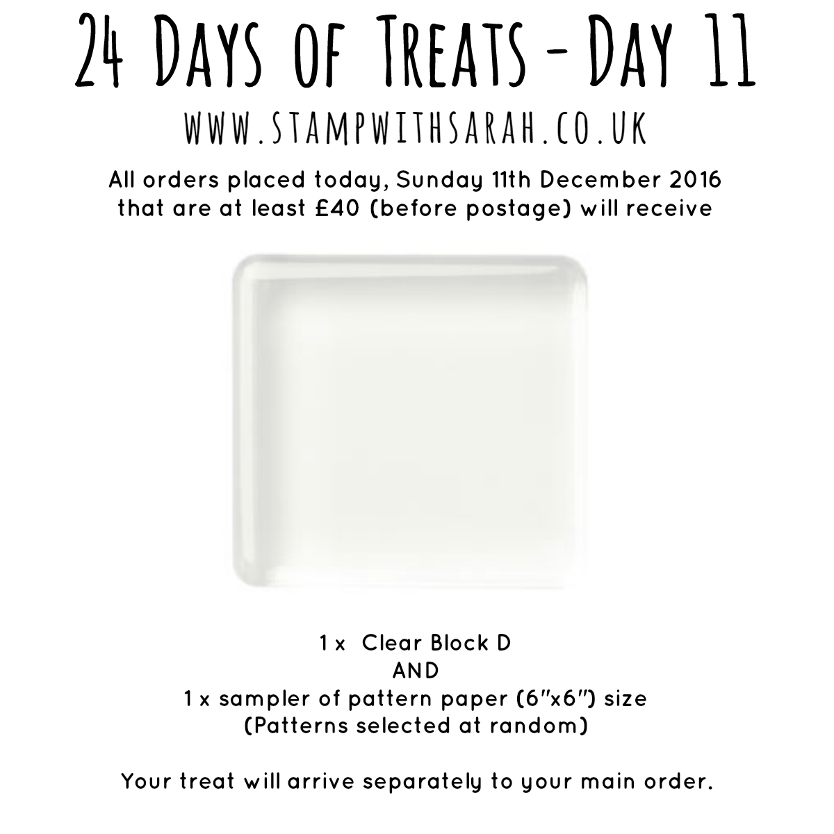 December Giveaway: Day 11 of 24 Days of Treats