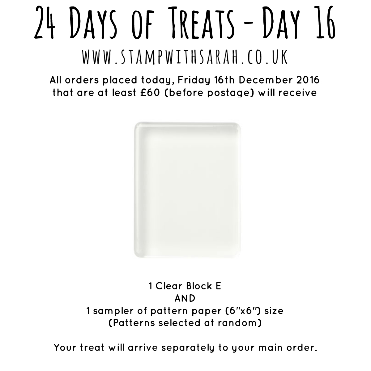 December Giveaway: Day 16 of 24 Days of Treats