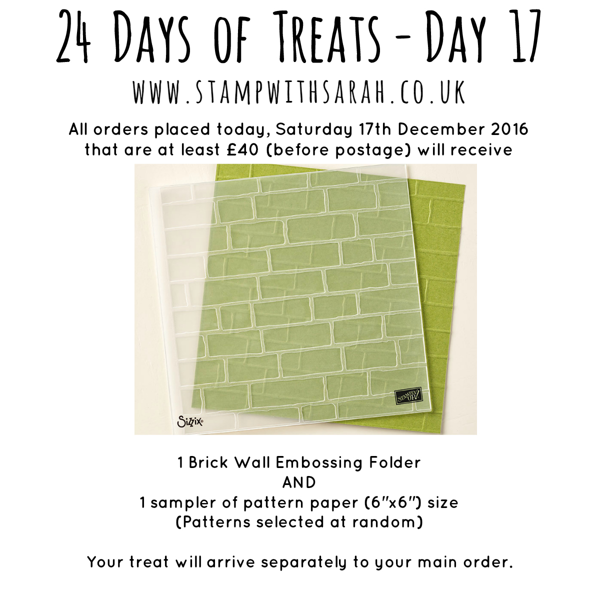 December Giveaway: Day 17 of 24 Days of Treats