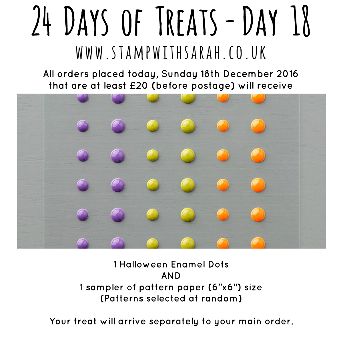 December Giveaway: Day 18 of 24 Days of Treats