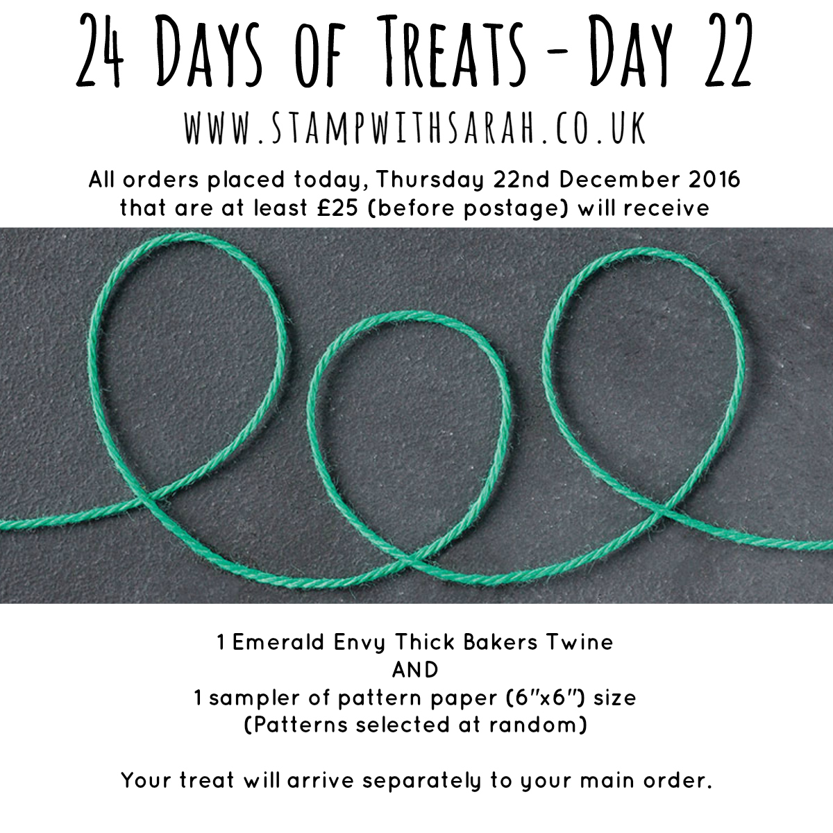 December Giveaway: Day 22 of 24 Days of Treats