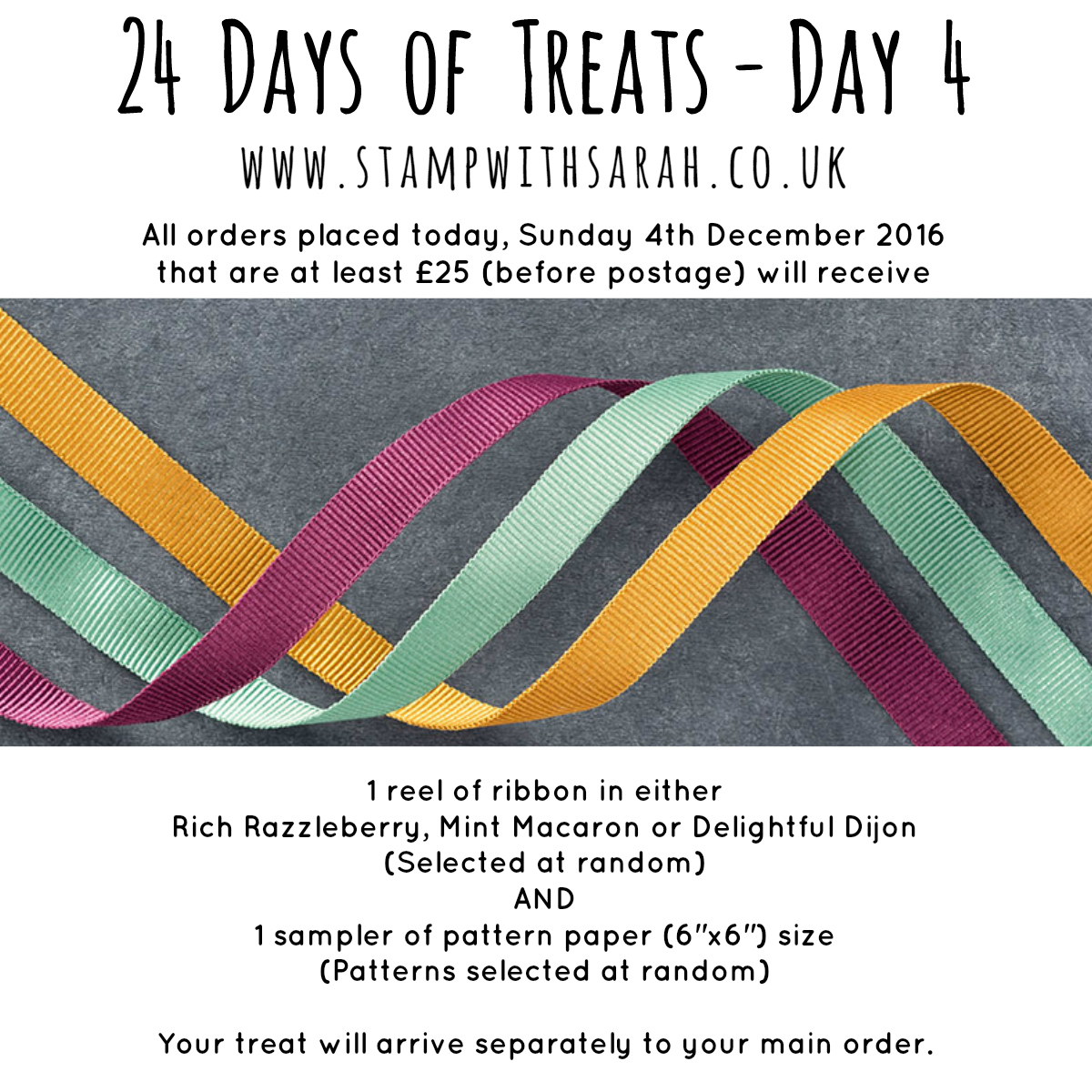 December Giveaway: Day 4 of 24 Days of Treats