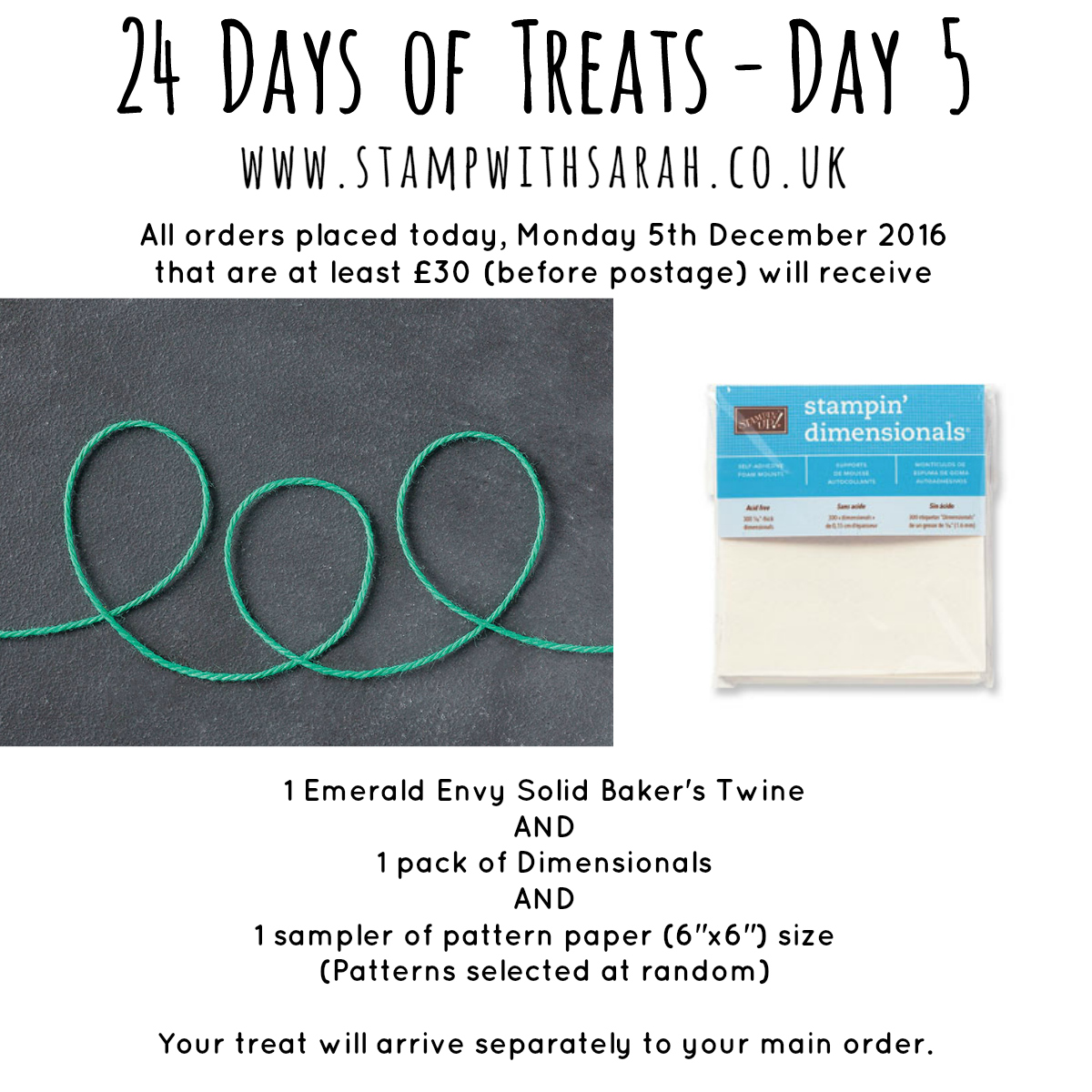 December Giveaway: Day 5 of 24 Days of Treats