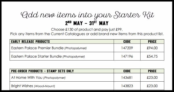 New products, kits, bundles – Choose yours in May on all Starter Kits