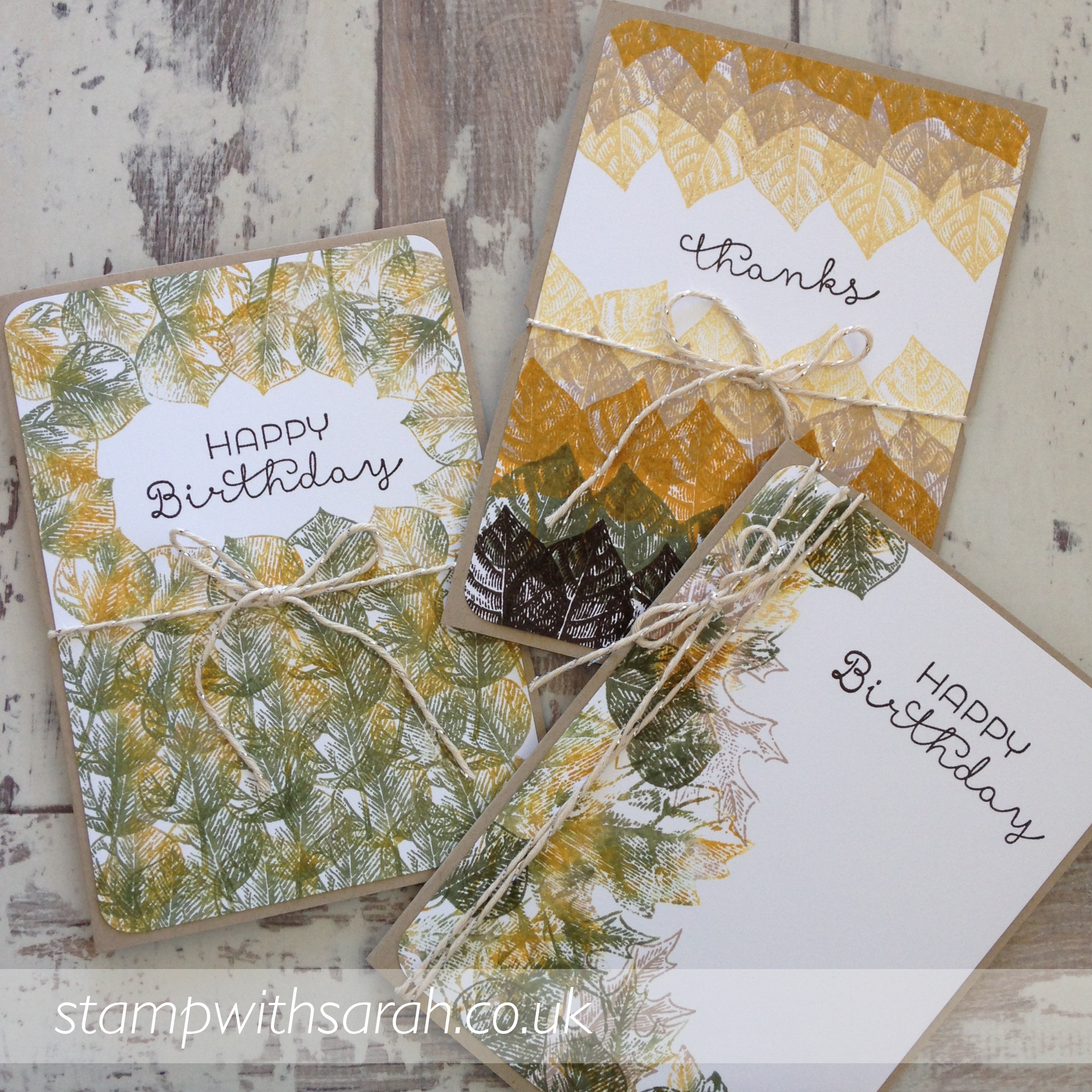 Cards made using Vintage Leaves stamp set by Stampin' Up!