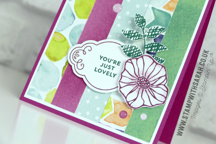 Close up of Naturally Eclectic Designer Series Paper by Stampin' Up! from Sarah Berry Stampin' Up! Demonstrator