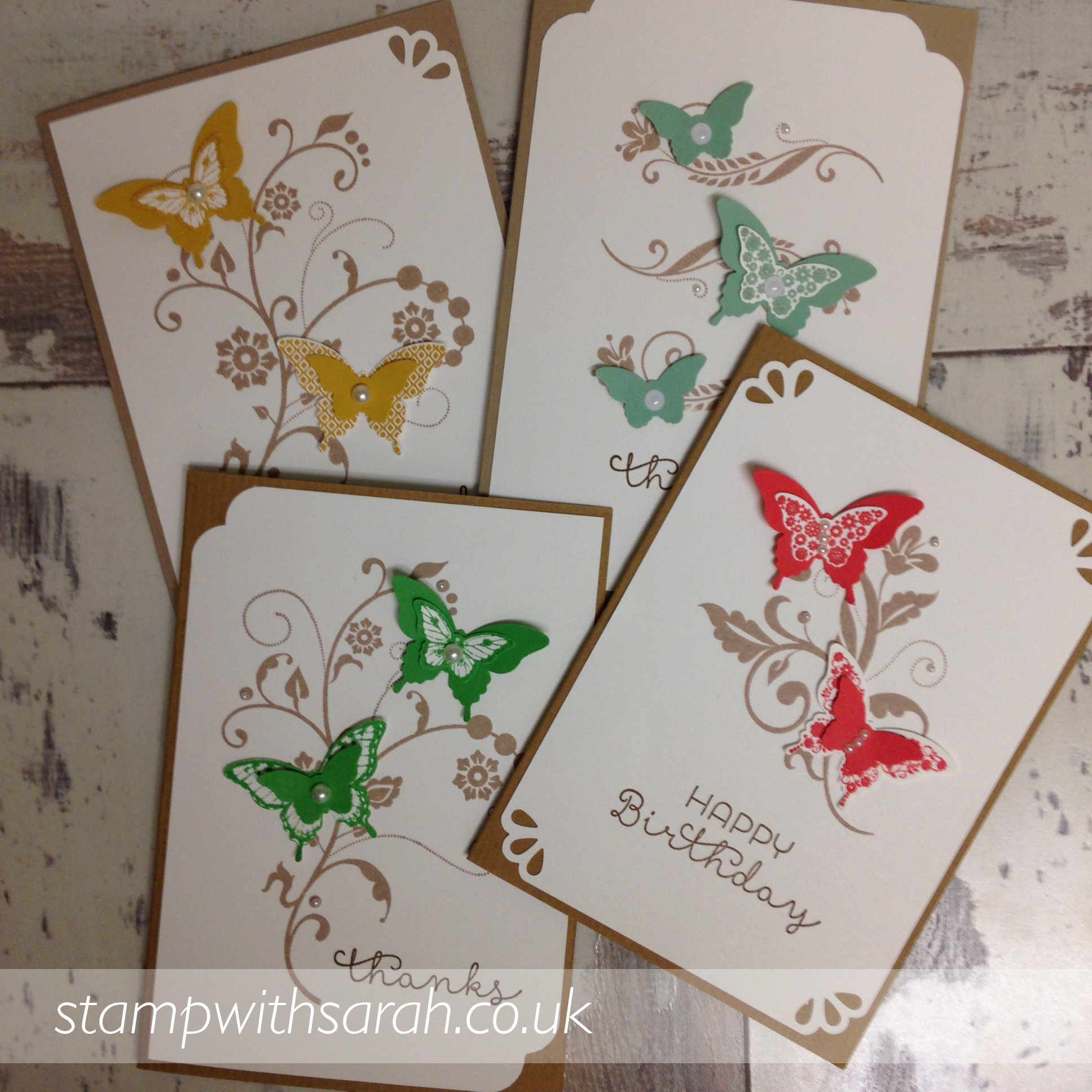 Colour selection made using Papilion Potpourri stamp set by Stampin' Up!