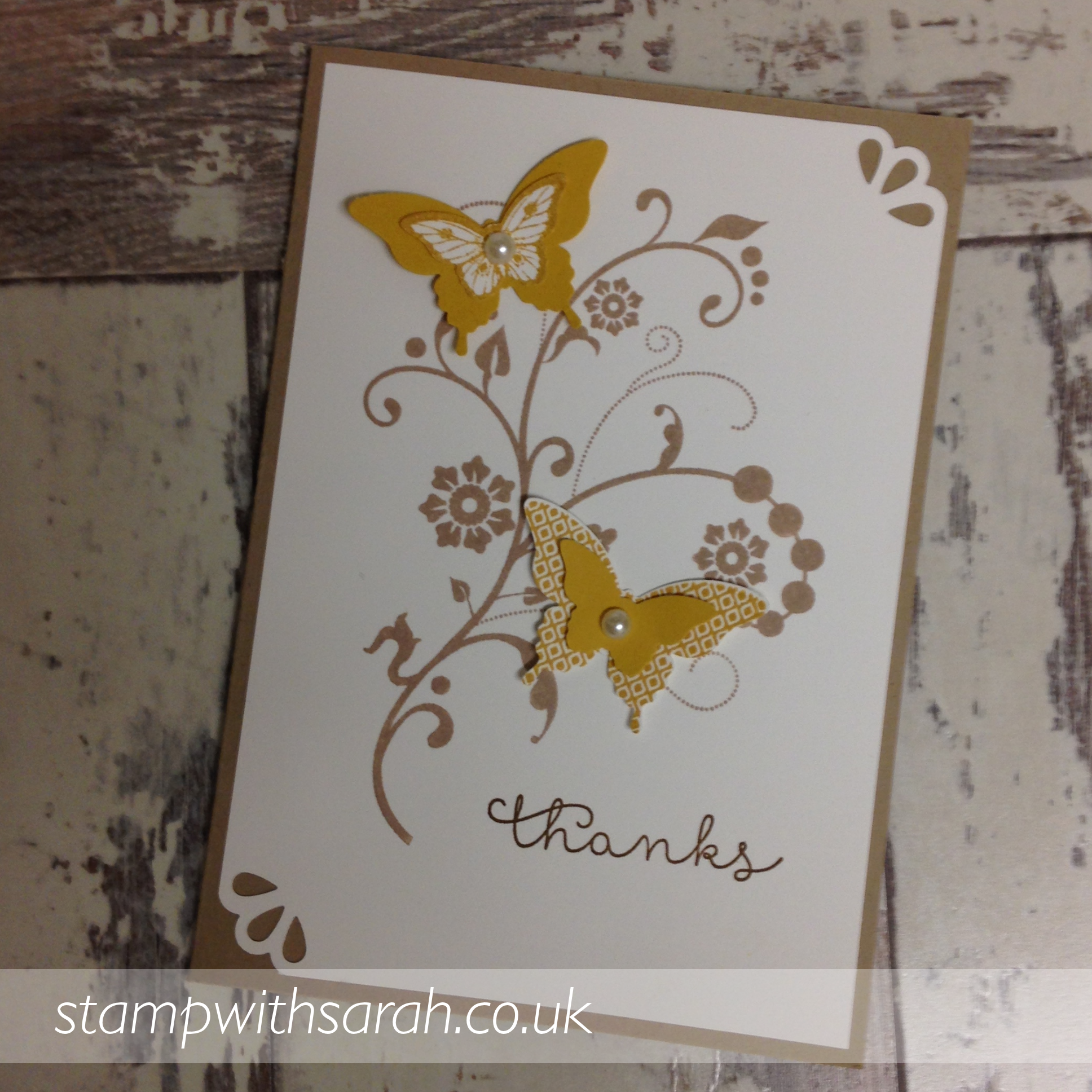 Hello Honey card made using Papilion Potpourri stamp set by Stampin' Up!