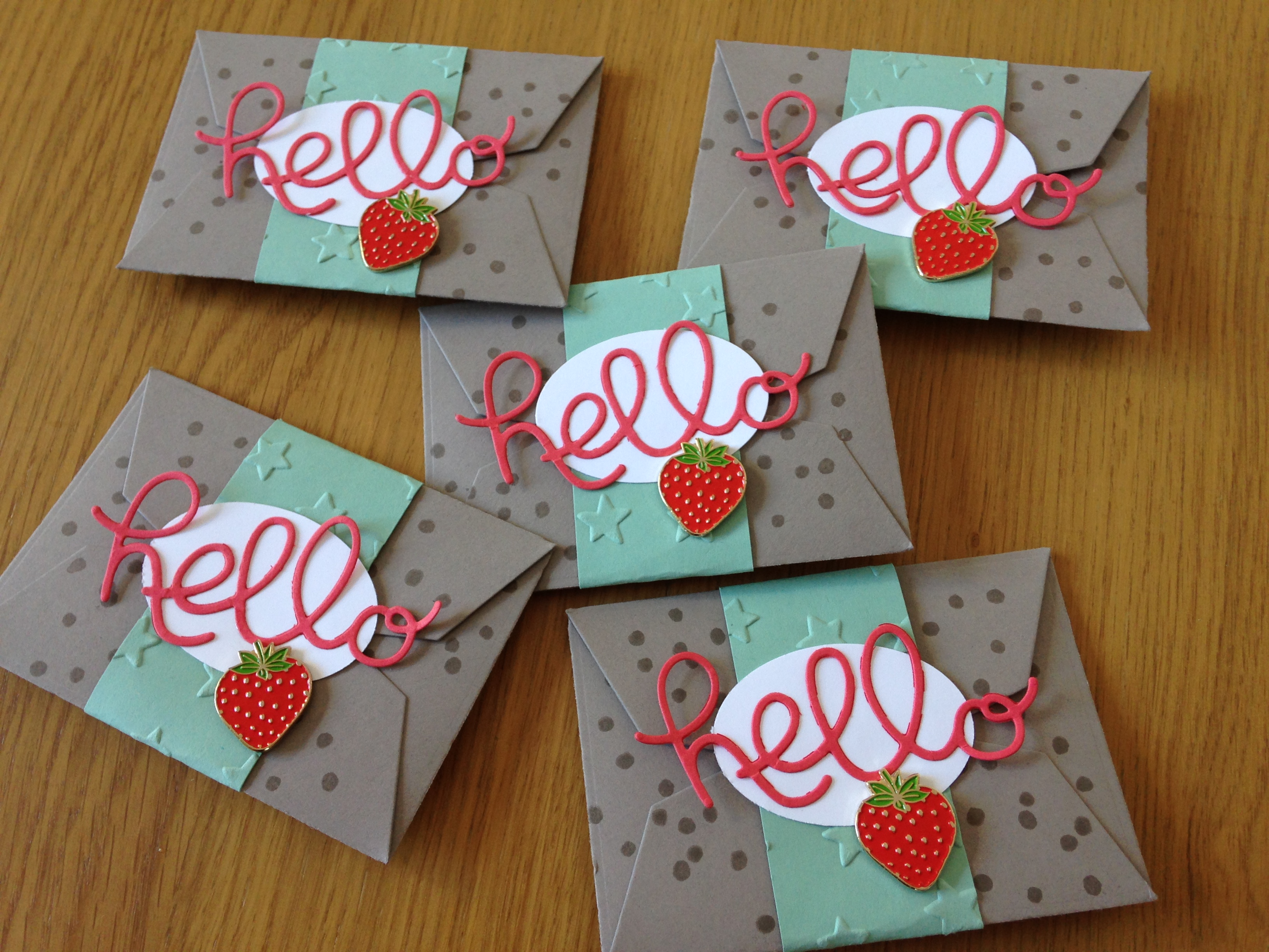 Welcoming new members to the Strawberry Stampers
