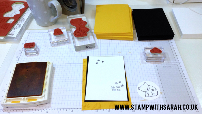 Making swaps using the new stamp set A Little Wild