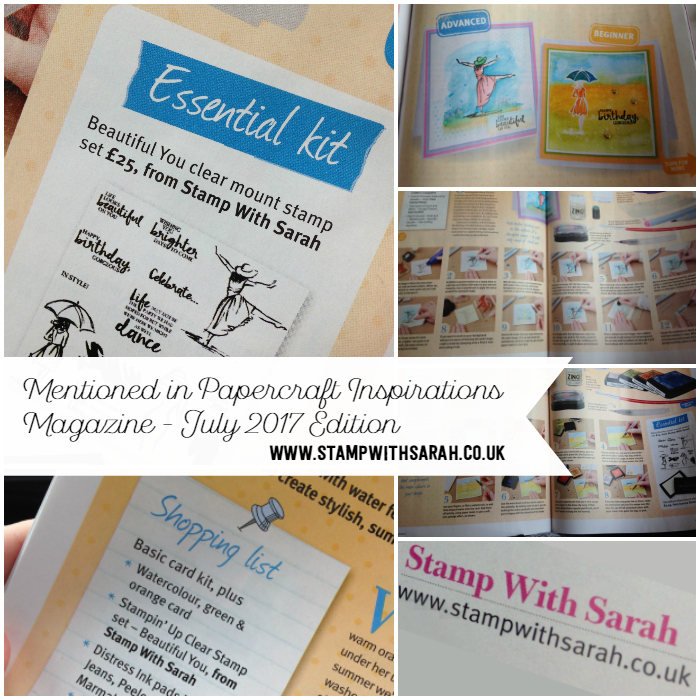Mentioned in Papercraft Inspirations Magazine, July Edition with Beautiful You stamps from Stampin' Up!®