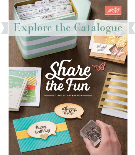 NEW CATALOGUE: Annual 2015-2016 Stampin' Up! Catalogue has arrived!