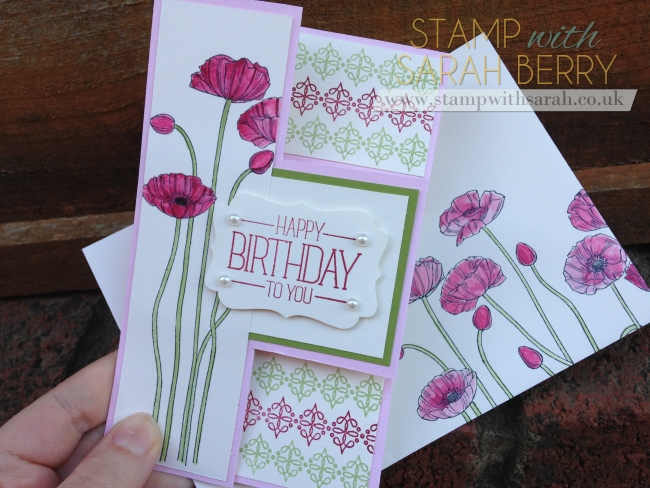 Stamp with Sarah Berry Stampin Up UK Pleasant Poppies